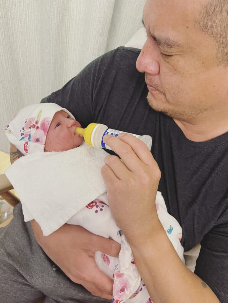 Photo dad with baby